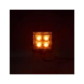 Výstražné LED světlo vnější, oranžové, 12-24V, ECE R65