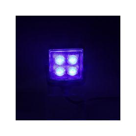 Výstražné LED světlo vnější, modré, 12/24V, ECE R65