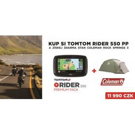 TomTom Rider 550 WORLD Premium Pack + Coleman Rock Springs 3 zdarma Přenosné GPS navigace
