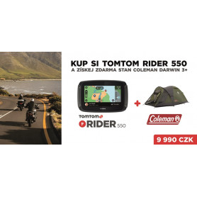 TomTom Rider 550 WORLD + Coleman Darwin 3+ zdarma Přenosné GPS navigace