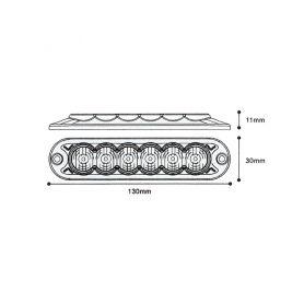CarClever LED BA15s bílá, 12-24V, 18LED/5730SMD 1-951005