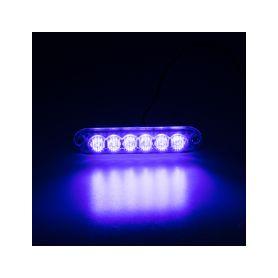 KF006ZBLU PREDATOR 6x3W LED, 12-24V, modrý, ECE R10 Vnější ostatní