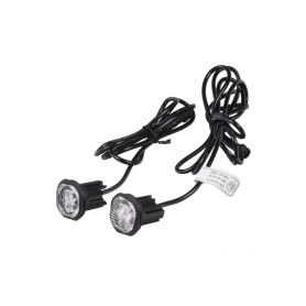 2x PROFI výstražné LED světlo vnější modré, 12-24V, ECE R65