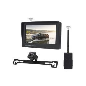 """SET bezdrátový digitální kamerový systém s monitorem 4,3"""" / Transmitter + kamera pod SPZ"""