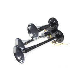 3-tónová fanfára 295mm, chromová, bez kompresoru