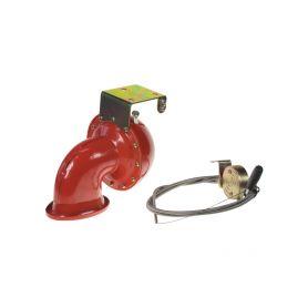 SN-152SW Bull horn siréna 12V, červená, s ovladačem Elektromagnetické