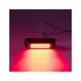 911-C4RED PROFI výstražné LED světlo vnější, červené, 12-24V, ECE R10 Vnější ostatní