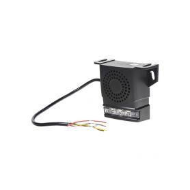 KF88 Signalizace couvání 10-80V, 92-107dB, ECE R10, se stroboskopem Signalizace couvání a sirény