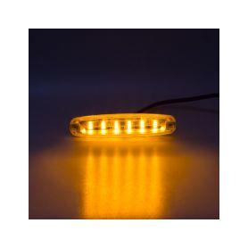 PREDATOR Ultra Slim 6x5W LED, 12-24V, oranžový, ECE R65