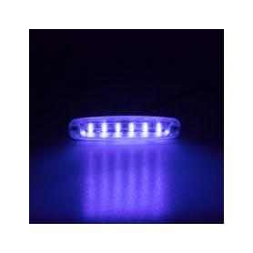 PREDATOR Ultra Slim 6x5W LED, 12-24V, modrý, ECE R65