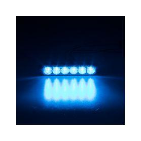 911-006BLU PROFI SLIM výstražné LED světlo vnější, modré, 12-24V, ECE R65 Vnější s ECE R65