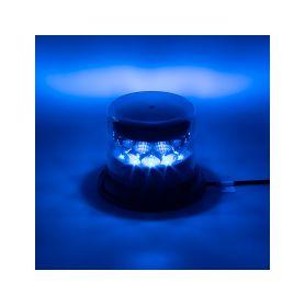 911-C24FBLUCL PROFI LED maják 12-24V 24x3W modrý čirý 133x86mm, ECE R65 LED pevná montáž