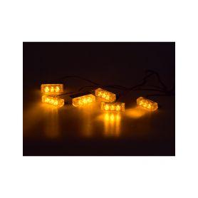 PREDATOR LED do mřížky, 12V, oranžový Do mřížek chladiče