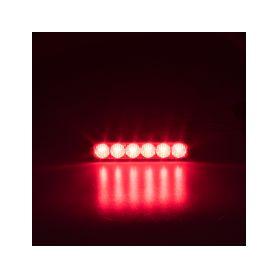 911-006RED PROFI SLIM výstražné LED světlo vnější, červené, 12-24V, ECE R65 Vnější s ECE R65
