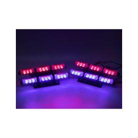 KF746-4BLRE PREDATOR LED do mřížky, 12V, modro-červený Do mřížek chladiče