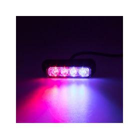 KF004E3WBLRE PREDATOR 4x3W LED, 12-24V, modro-červený, ECE R10 Vnější ostatní